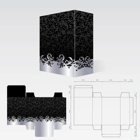 completato: Imballaggi compilato deve essere stampato su cartone o cartoncino Vettoriali