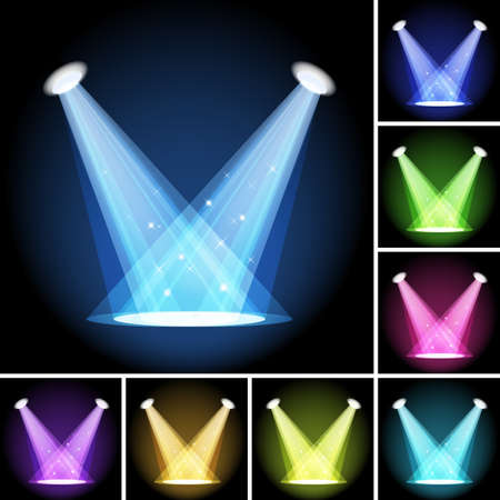 Stage light  Clipping Mask  Mesh  EPS10 Stock Vector - 15200411