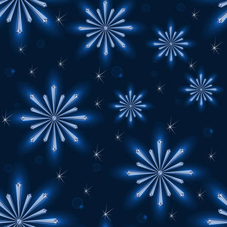 Seamless pattern from snowflakes. This file contains transparency.