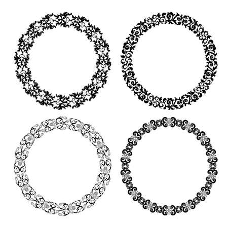 Set of floral design elements on the white background Stock Photo - 17304646