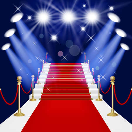 carpet: Red carpet with spotlight  Mesh This file contains transparency EPS10  Clipping Mask