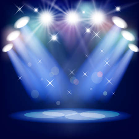 Stage light  Mesh  EPS10  This file contains transparency  Vector
