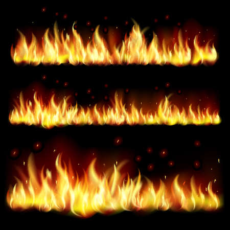 Black background with flame.EPS10. Mesh.This file contains transparency. Vector