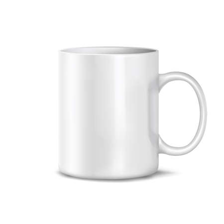 Cup on a white background. Mesh. Vector