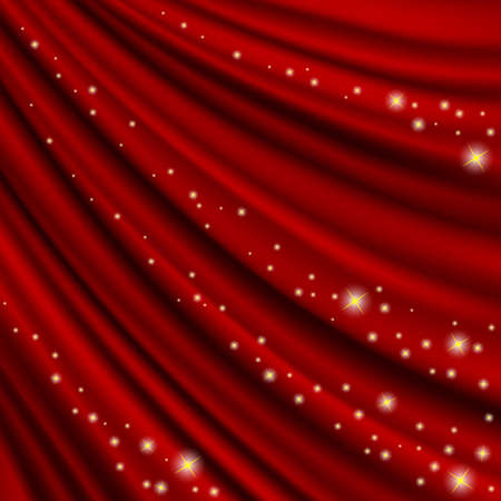 clipping mask: Theater  red curtain. Clipping Mask. Mesh.