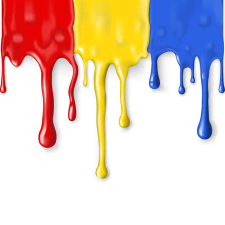 paint drip: Background with streaks of paint of different colors. Mesh. Clipping Mask.