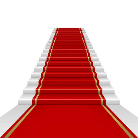Red carpet with ladder  Ilustracja