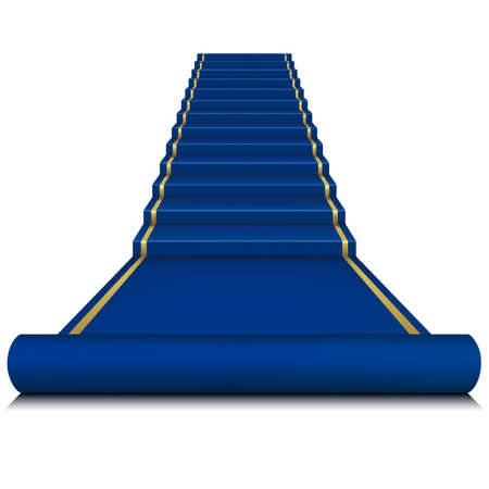 Blue carpet with ladder  Mesh