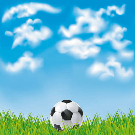 Background with a soccer ball. Mesh.This file contains transparency.