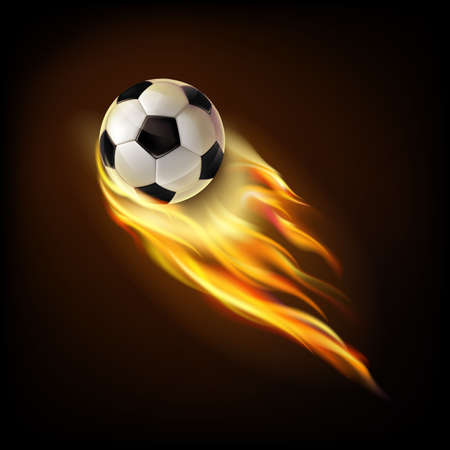 Flying soccer ball.Mesh.This file contains transparency.