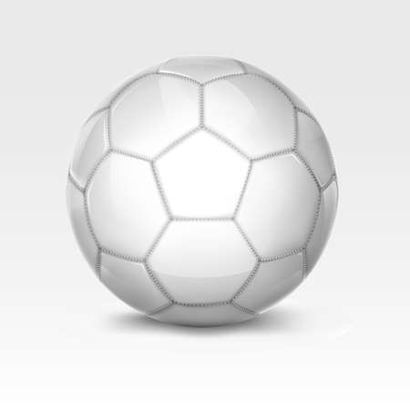 White soccer ball. Mesh.This file contains transparency. Ilustracja