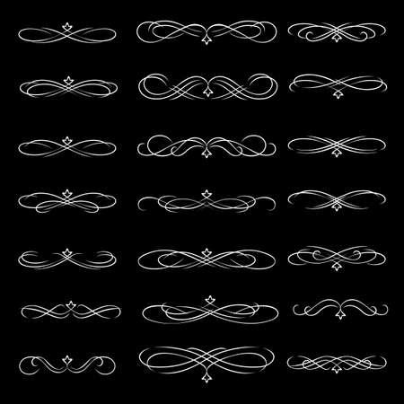 Vector dividers calligraphic line element. Ilustracja
