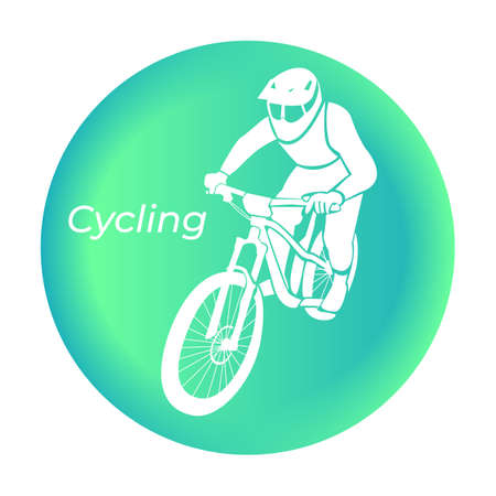 Cycling icon in vector. Tourism. Vector illustration.