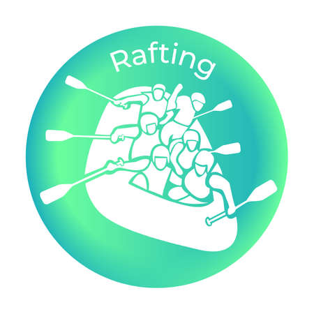 Icon rafting from the Sea set. Vector illustration
