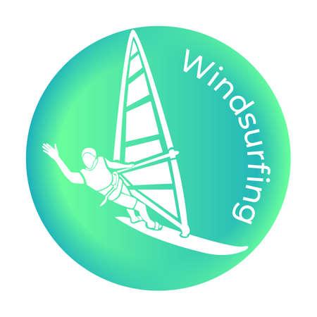 The Windsurfing icon in vector Vector illustration Ilustração
