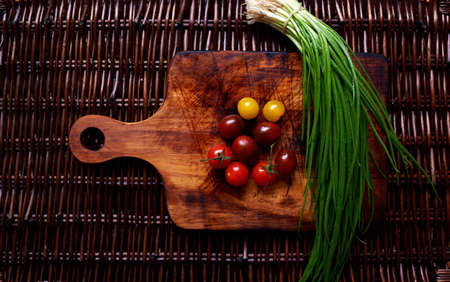 garden stuff: Garden stuff on a beautiful vintage wooden cutting board