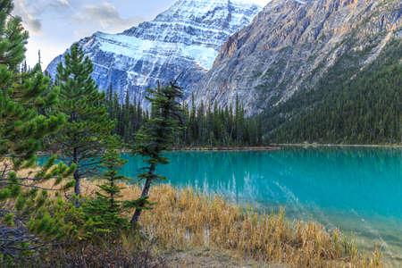 edith: Edith Cavell Lake in Jasper National Park, Alberta, Canada Stock Photo