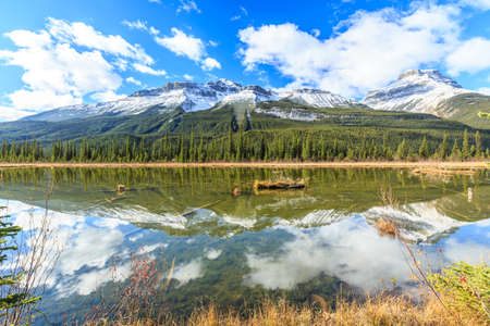 rampart: Rampart Ponds in Icefields Parkway