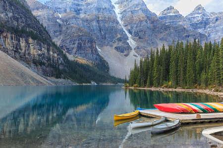 banff: Moraine Lake in Banff National Park, Alberta, Canada Stock Photo