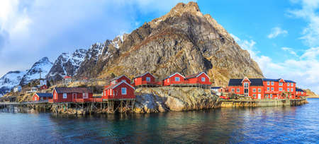 Reine fishing village in Lofoten, Norway Reklamní fotografie - 39460631