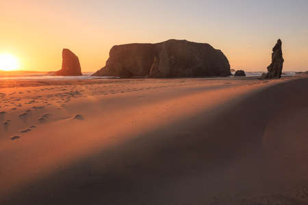 oregon coast: Sunset at Bandon Beach, South Oregon Coast