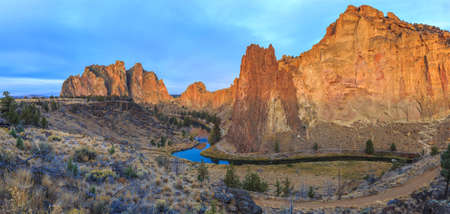 bends: Sunrise at Smith Rock State Park, Oregon
