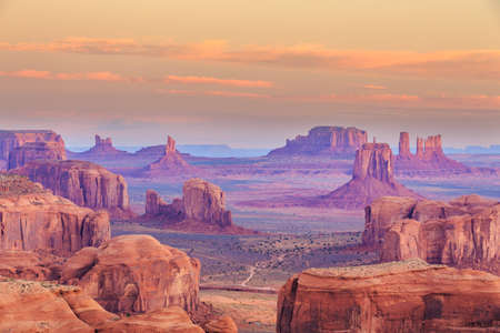 Hunts Mesa à Monument Valley, Arizona Banque d'images