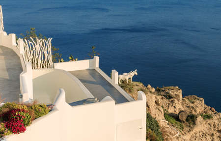 Beautiful village Oia in Santorini island