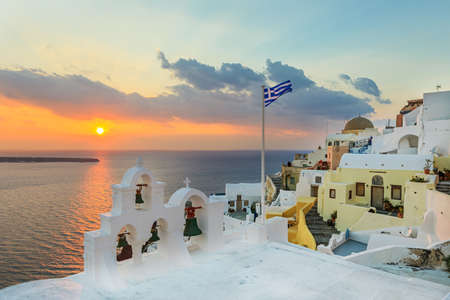 Beautiful village Oia in Santorini island