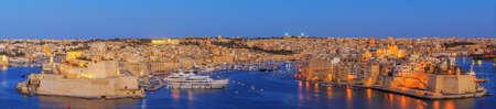 View to Great Harbor from Upper Barrakka Gardens in Valetta