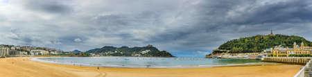 La Concha Beach in San Sebastian Donostia Reklamní fotografie