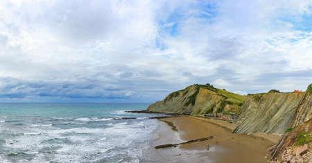 The Flysch in Itzurun beach  near Zumaia Reklamní fotografie