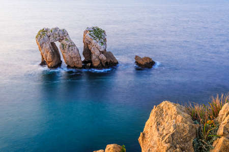 Playa Arnia near Santander, Cantabria Reklamní fotografie