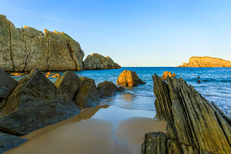 Playa Arnia near Santander, Cantabria Reklamní fotografie - 92126793