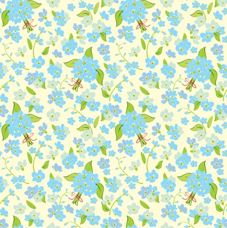 Abstract elegance illustration texture with forget-me-not. Vector