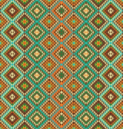Seamless pattern background with ethnic accents Vector