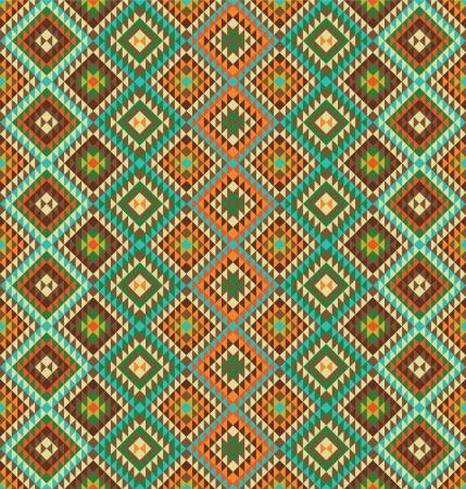 mexican art: Seamless pattern di sfondo con accenti etnici