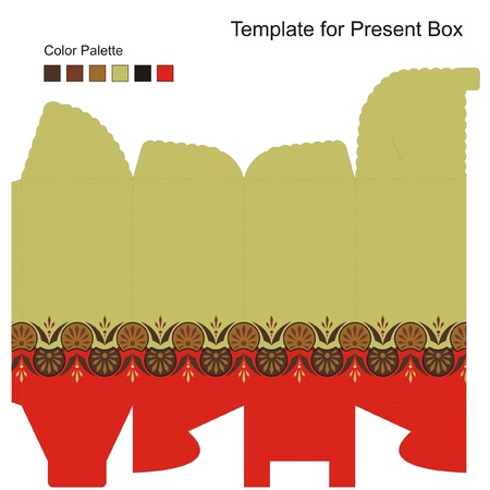 Template for Gift Box Vector