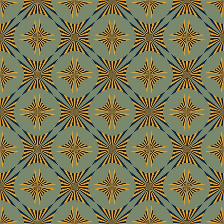 Seamless vintage background in blue and orange Vector