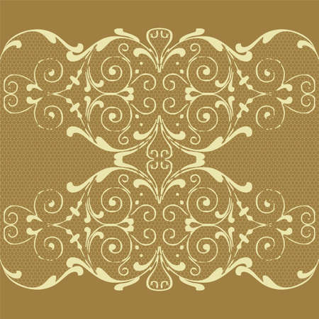 Seamless background with lace ornament Vector