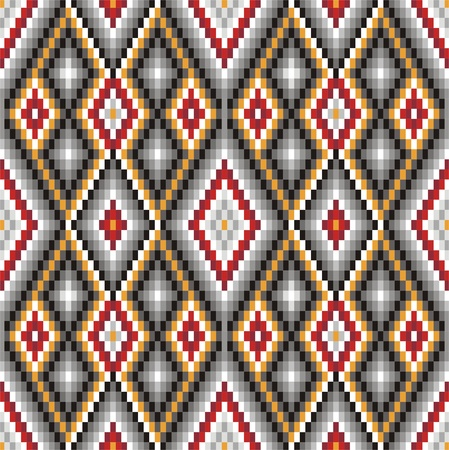 Background with ethnic motifs seamless pattern Vector