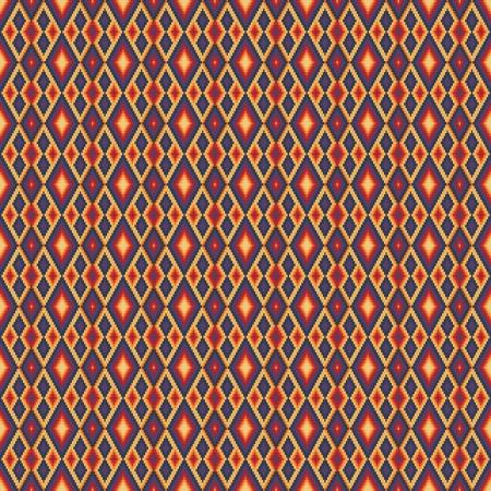 gestickt: Rhombus ethnischen Hintergrund mit indischen Akzenten Illustration