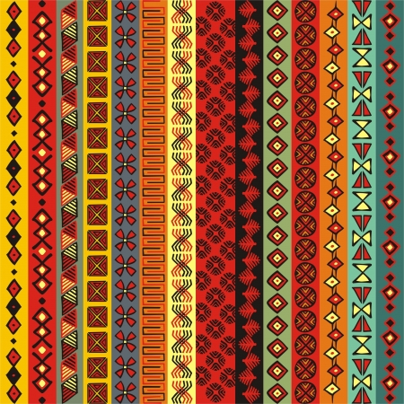 Various strips motifs colored Vector