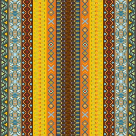 motifs: Ethnic background pattern with geometrically elements in different color motifs Illustration