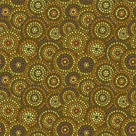 Dots circles background  Ceramic seamless Vector