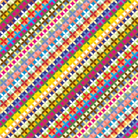 multi ethnic: Colorfull geometric pattern  Summer background  Illustration