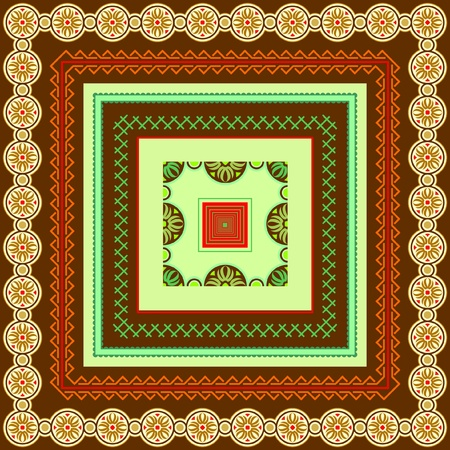 Vaus motifs of borders and frames for design Stock Vector - 13778128