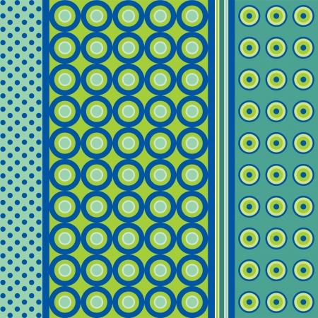 green cute: Seamless patterns  Polka dots set