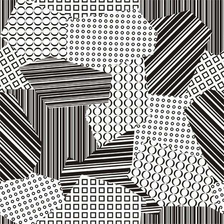 Black and white retro background Stock Vector - 13778137