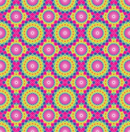 Abstract ethnic seamless background. Vector